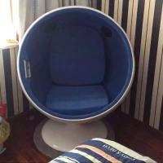 Egg Pod Fiberglass half Ball Chair space egg chair