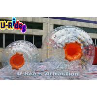 Wholesale Eco - Friendly Children Inflatable Zorb Ball / Orange Water Running Ball from china suppliers