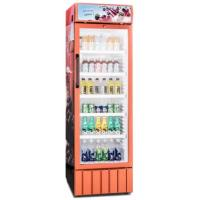 China 350L Low Power Low Noise Plastic Inner Single Glass Door Display Fridge / for sale