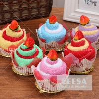 Wholesale 2 Color Hotel Baby Kids Gift Ideas Strawberry Cake Hand Face Towel from china suppliers