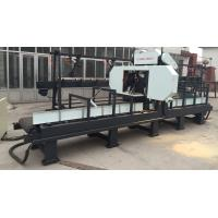 wood horizontal band saw machine with good quality for cutting wood portable sawmill