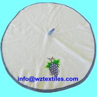 Wholesale Round Embroidery Kitchen Towels With Center Hook from china suppliers