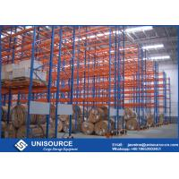 Wholesale Blue / Orange Pallet Storage Racks Metal Conventional Pallet Storage Shelves from china suppliers