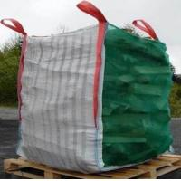 China Heavy Duty Vented Bulk Bags Firewood Transportation , Mesh PP Super Sack Bags on sale