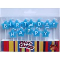 Wholesale Blue Star-shaped Happy Birthday Letter Candles (ZMC0052) from china suppliers