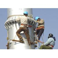 Monopole Lattice Transmission Tower , Galvanized / Painted Power Distribution Tower for sale
