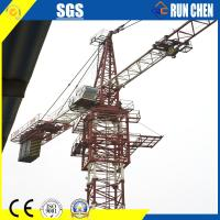 China 6ton Self Erecting Yellow Runchen Brand Hammerhead Tower Crane 55jims 44M Height for Asian Country on sale