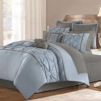 China Faux Silk Doupion 4-piece Comforter Set with Pleat and Pin Tucked on sale