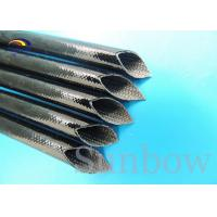 Wholesale Heat proof High Voltage Silicone Fiberglass Sleeving inside fiber and outside rubber from china suppliers
