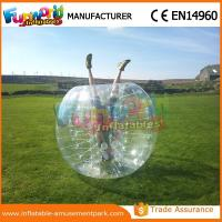 China 1.2 M Diameter PVC Transparent Inflatable Bubble Soccer Human Zorb Ball on sale
