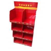 China Red Color  510mm Width Four Tier Corrugated Paper Tall Display Trays for sale