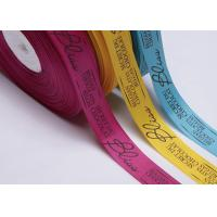 Bulk Custom Printed Grosgrain Ribbon By The Yard Gift Pre Cut For Apparels for sale