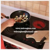 Wholesale Modern Kithen Room with Printing Black and Red Color Gas Stove with Glass Top from china suppliers