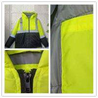China PU Coating Polyester Reflective Apparel , High Vis Reflective Work Clothing for sale