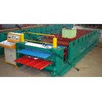 Corrugated Double Layer Roll Forming Machine , Wave Galvanized Roof Sheet Cold Roll Former