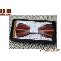 China Beautiful Neckwear Creative 3D Handmade Butterfly Wood Bowties for sale