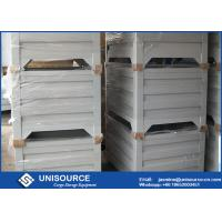 Quality Material Handling Metal Pallet Boxes With Wheels , Stackable Pallet Cages for sale