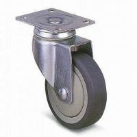 Wholesale High-quality PUP/TPR Industrial Caster Wheel with 100mm Outside Diameter and 136mm High from china suppliers