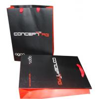 Printed Polythene Carrier Bags Matt Coated , Rope Handle Carrier Bags for sale