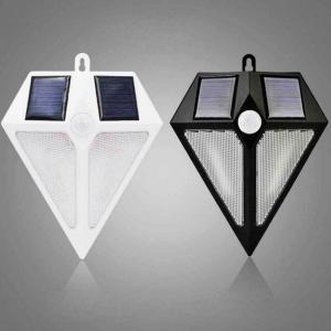 China 6LED Rhombus Shape PIR Motion Sensor Wall Lights Motion Activated Solar PIR Wall Light on sale
