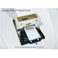 China A4 Inkjet Small Format UV Flatbed Printer Curable Desktop For Soft Material on sale