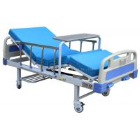 China 2 Function 2 Crank Manual Hospital Bed Comfortable With Dinning Table / Mattress on sale