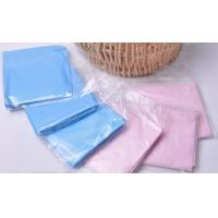 China Pink Blue Anti - Fouling Oil Disposable Plastic Bibs Apron For Medical Devices on sale