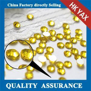 Wholesale China factory Rhinestone flatback,rhinestone flatback citrine SS20 from china suppliers
