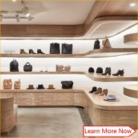Best Customized wooden veneer furniture for shoe store,shoes shop interior design wholesale