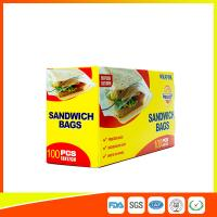 Quality Food Grade Plastic Clear Recyclable Sandwich Bags , Reusable Bag With Zipper for sale