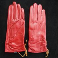 Wholesale Leather Womens Waterproof Gloves , Sheepskin Womens Leather Dress Gloves from china suppliers