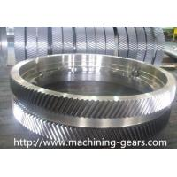 Iron Large Pitch Diameter Gear Wheels For Cement / Mining Facilities