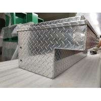 China Welded Storage Cabinet Aluminum Truck Side Tool Boxes Lockable For Safety for sale