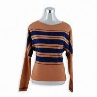Wholesale Women's Long-sleeved Sweater in Casual Style, Made of 100% Rabbit Wool from china suppliers