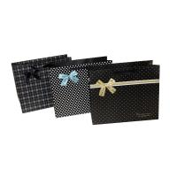 Cute Dots Paper Party Bag Decorating with butterfly bow for Advertising Packing for sale