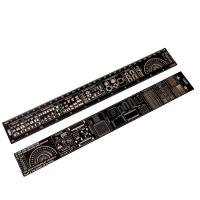 China Double Sided Fr4 PCB Accessories Positive And Negative Side 180 Degree Protractors for sale