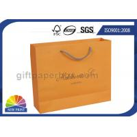 China Grosgrain / Cotton Handle Shopping Paper Bags For Retail Promotion for sale