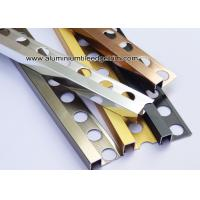 Wholesale Square / Straight Edge Tile Edge Trim 8mm 9mm From Aluminum For Outside Corner from china suppliers