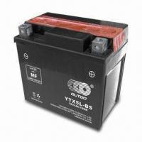 Wholesale 119 x 60 x 128mm Motorcycle MF Battery with 12V/5Ah Capacity and Dry-charged Type from china suppliers