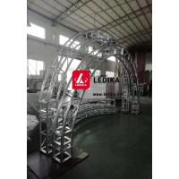 Quality Aluminum Silvery Circle Truss Pillar For Wedding Decoration Lightweight for sale