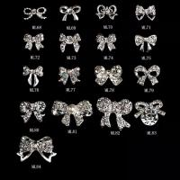 Best Butterfly 3D Nail Art Tips Decoration Glitter Rhinestone Alloy Jewelry ML-68-84 wholesale