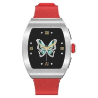 """Wholesale Metal Shell TPU Band 1.22"""" Blood Oxygen Smartwatch from china suppliers"""