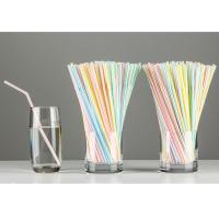 China 180mm 210mm PP Bendable Plastic Straws , 5mm Flexible Drinking Straws on sale