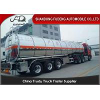 China Stainless Steel Tanker Trailers With A Capacity Of 45000 Liters For Transport Of Palm Oil on sale