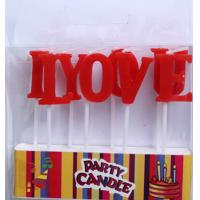 """Wholesale Red """"I Love You"""" Letter Candles (ZMC0061) from china suppliers"""