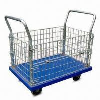 Wholesale Durable Platform Hand Trucks with 300kg Loading Capacities, Available in Different Colors from china suppliers
