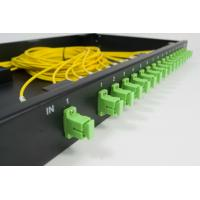 Wholesale 19 Inch ODF 24 Port PLC Fiber Optic Splitter Patch Panel Rack Mounted from china suppliers