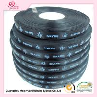 China 10 mm Black Custom Printed Ribbon for Christmas thermal transfer Printing process for sale