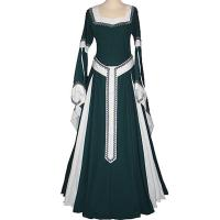 Wholesale Medieval Dress Wholesale XXS to XXXL Custom Made Dark Green&Ecru Medieval Renaissance Victorian Dress cosplay from china suppliers