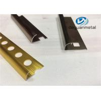 Wholesale Different Punched Metal Edging Strip , Shiny Golden Aluminium Trim Profile from china suppliers